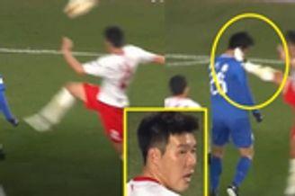 K联赛惊现踹脸?#22885;?#29359;规!网友:这是中国功夫足球