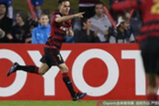 进球GIF-卢斯蒂卡抽射得手 西悉尼反超场上比分