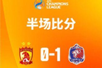半场-解围失误助苏亚雷斯闪击得分 广州暂0-1泰港
