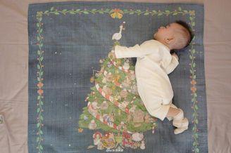 何雯娜分享宝宝照片
