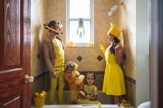 家庭主题色穿搭挑战
