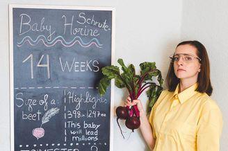 准妈妈记录怀孕的过程