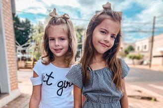 自带热带风情的双胞胎小模特