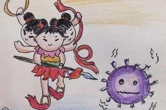 湖南小学生手绘防疫故事