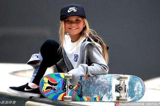 10岁滑板女孩冲击东京奥运