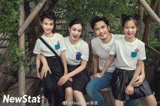 张伦硕钟丽缇携两女儿拍写真