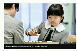 日本天才围棋少女天资过人