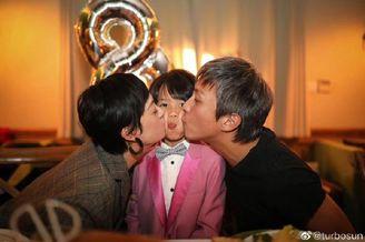 邓超孙俪为儿子庆祝八岁生日