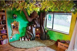 英国爸爸为女儿制作魔法树