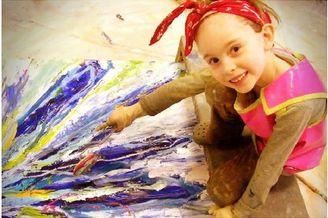 15岁少女成天才画家