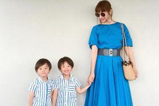 日本妈妈和两个儿子的日常穿搭