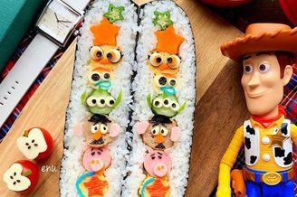 日本宝妈为孩子制作爱心甜点