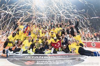 费内巴切庆祝欧冠篮夺冠
