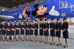 东航迪士尼主题喷涂飞机亮相(图)