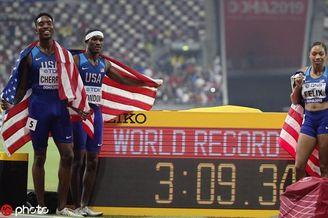 混合4x400接力美国破世界纪录