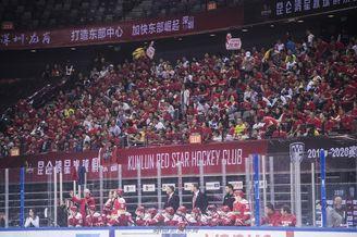 KHL万科龙现场观众近队史纪录