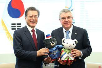 韩总统会晤国际奥委会主席巴赫