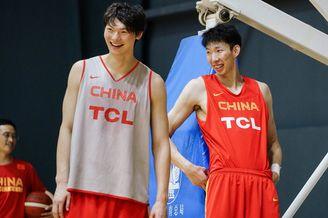 中国男篮公开训练备战世界杯