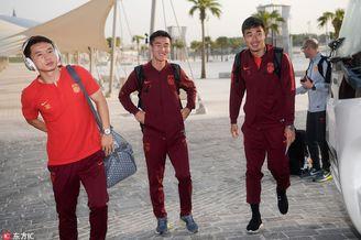 国足众将抵达卡塔尔多哈