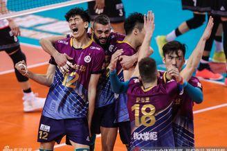 排超决赛③上海男排3-0北京