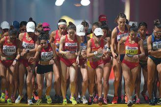 女子20公里竞走中国包揽前三