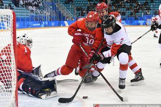 冰球女子半决赛加拿大5-0俄奥