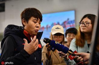 中国短道速滑队公开训练日