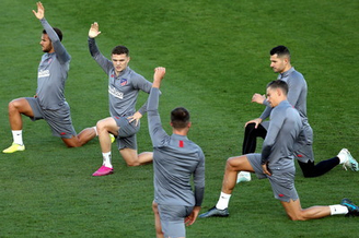 马德里竞技训练备战