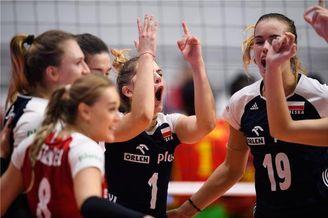 瑞士赛波兰女排3-0喀麦隆
