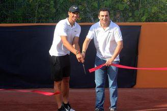 纳达尔坎昆网球中心启动仪式