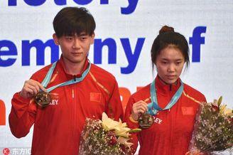 射击世界杯赵若竹/刘宇坤夺冠