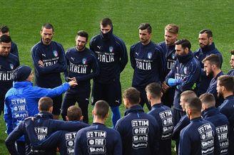 意大利训练备战欧预赛