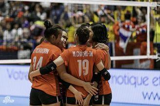 瑞士赛泰国女排3-1克东道2连胜