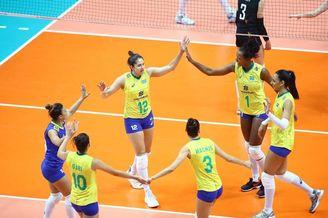 世界女排联赛比利时0-3巴西