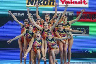 世锦赛花样游泳集体托举决赛