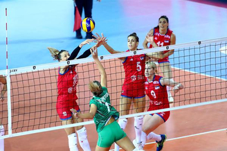 女排欧锦塞尔维亚3-0保加利亚