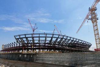 上港专业球场建设进展迅速