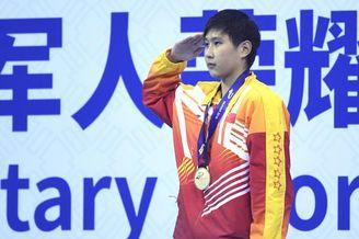 军运会1500米自王简嘉禾夺冠