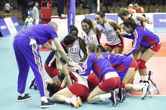 军运会法国女排3-2荷兰获第七