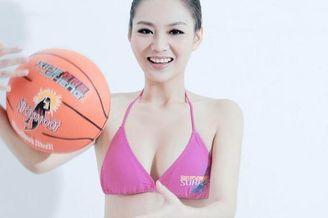 篮球宝贝刘闻雯写真喷火