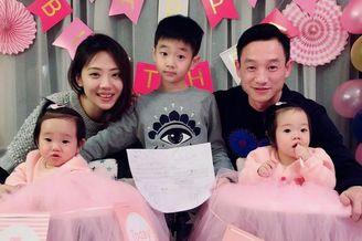 杨威双胞胎女儿满一周岁