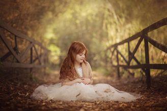 秋日下的唯美儿童摄影