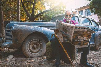 98岁爷爷也玩时尚范儿