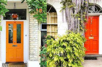 门前的彩色画廊