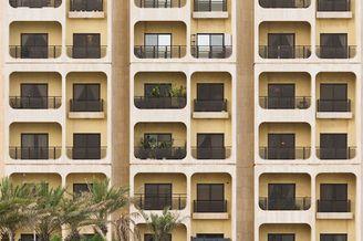 抽象的几何建筑 建筑几何构建舒畅视觉