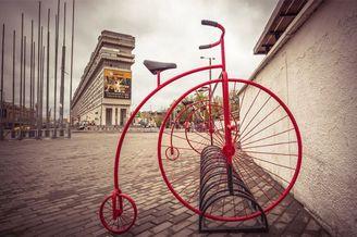 点缀街头的自行车 一道靓丽的全新风景线