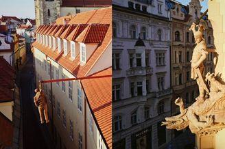 屋顶上的布拉格 疫情空城的古典都会