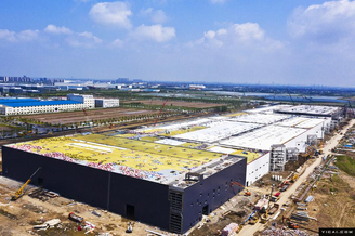 特斯拉上海超级工厂进度惊人 生产设备紧锣密鼓安装调试(图集)