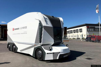 全球首例无人驾驶电动卡车获准在瑞典上路运货(?#25216;?