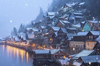 奥地利最美小镇哈尔施塔特